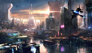 Paris cityscapes futuristic artwork adrift remember me HD wallpaper