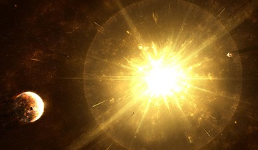 Sun outer space stars explosions planets last supernova HD wallpaper