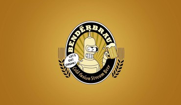 Beers futurama bender minimalistic funny HD wallpaper