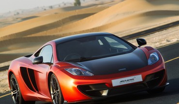 Sand cars desert mclaren mp4-12c HD wallpaper