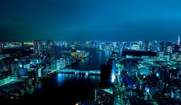Japan tokyo cityscapes towers citylights HD wallpaper