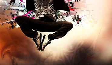 Photomanipulation jump HD wallpaper