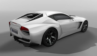 White design lamborghini concept art rearview 2009 toro HD wallpaper