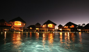 Ocean night maldives HD wallpaper