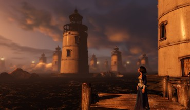 Water ocean lighthouses bioshock infinite elizabeth comstock HD wallpaper