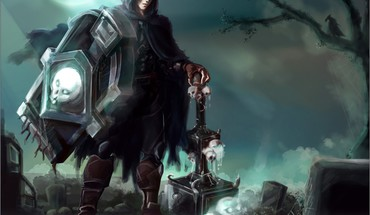 Skulls halloween league of legends taric fan art HD wallpaper