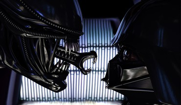 Stars darth vader sith alien crossovers aliens HD wallpaper