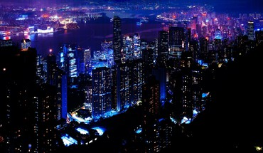 Night skyscrapers cities HD wallpaper