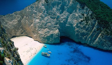 Greece zakynthos islands ships HD wallpaper