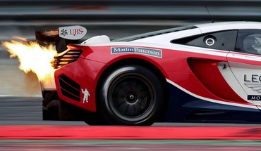 Racing mclaren mp4-12c high sport exhaust wrap HD wallpaper