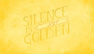 Text typography golden silence yellow background HD wallpaper