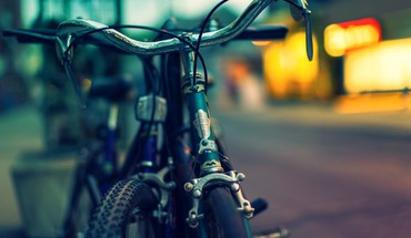 Bicycles bokeh blurred background HD wallpaper