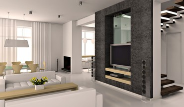 Lovely modern room design HD wallpaper