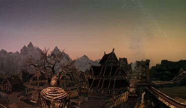 The elder scrolls v skyrim landscapes multiscreen panorama HD wallpaper