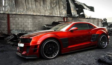 Cars tuning chevrolet camaro ss HD wallpaper