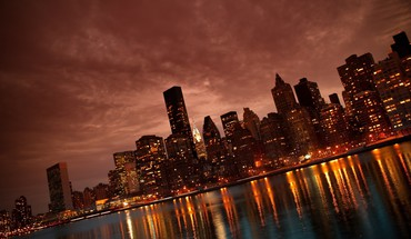 Manhattan reflections HD wallpaper