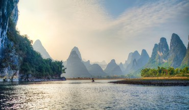 Superb chinese river hdr HD wallpaper