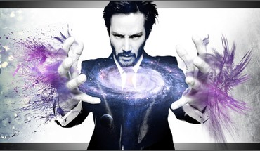 Keanu reeves galaxies photo manipulation HD wallpaper