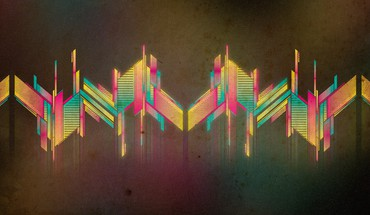 Abstract artwork multicolor retro HD wallpaper