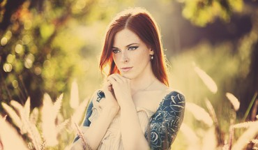 Tattoos women redheads faces pale skin HD wallpaper
