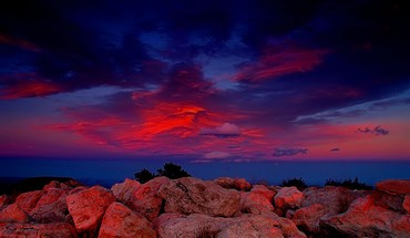 Red sky sunset HD wallpaper
