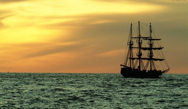 Nature sail ship HD wallpaper
