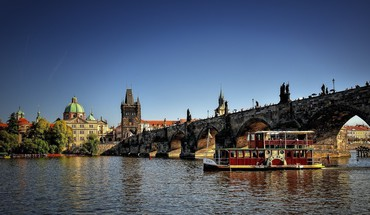 Prague czech republic historic rivers charles bridge HD wallpaper
