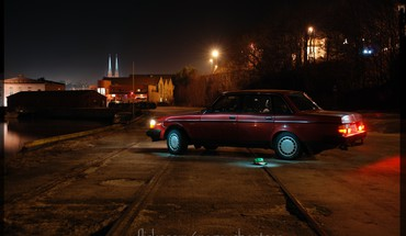 Cities trainway trails sea volvo240 swedish car HD wallpaper