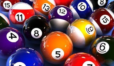 Abstrakte Kugeln Billard Spiele multicolor  HD wallpaper