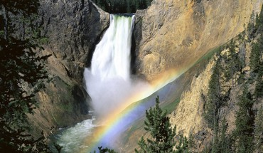 National park wyoming yellowstone falls landscapes HD wallpaper