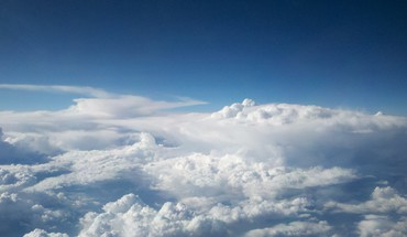 Clouds overview HD wallpaper