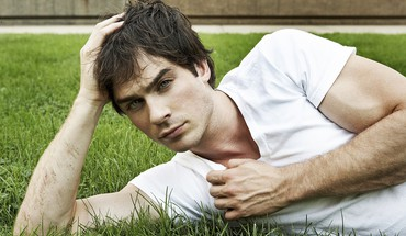 Ian somerhalder actors blue eyes brunettes grass HD wallpaper