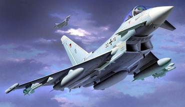 Aircraft airplanes eurofighter typhoon artwork german HD wallpaper