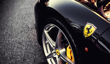 Close-up cars ferrari vehicles emblem HD wallpaper