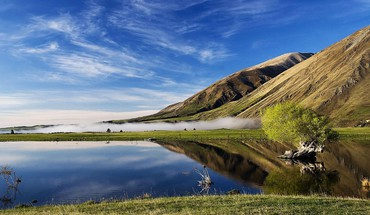 Lake coleridge canterbury south island new zealand HD wallpaper