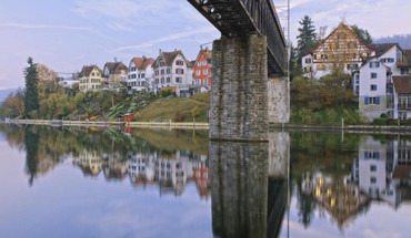Bridge in schaffhausen switzerland HD wallpaper