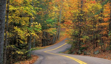 couleurs d'automne routes  HD wallpaper