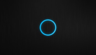 Blue black minimalistic patterns circles techno glow HD wallpaper