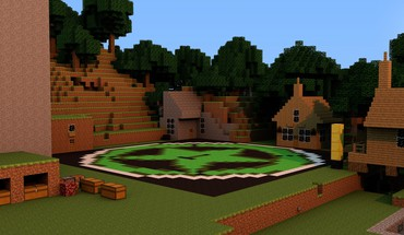 Minecraft Rooster Teeth Leistung Jäger Stadt  HD wallpaper