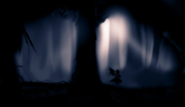 Black trees dark forest silhouette mystia lorelei HD wallpaper