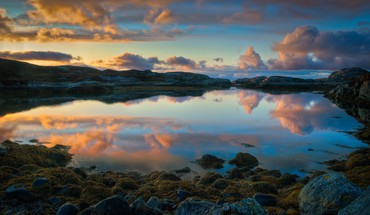 Norway norwegian clouds coast nature HD wallpaper