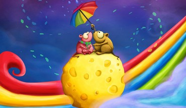 Rainbows fromage parapluies souris  HD wallpaper