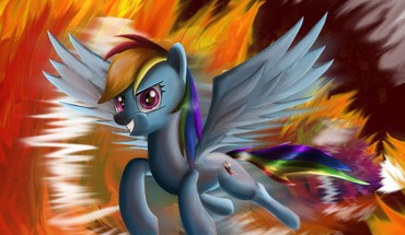Fire my little pony rainbow dash artist HD wallpaper