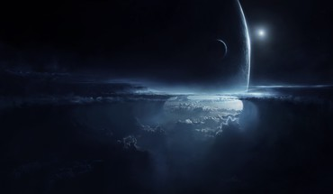 Space dark stars planets artwork cloud skies HD wallpaper