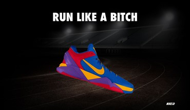 Nike funny running sneakers HD wallpaper