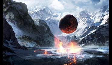 Mountains planets god valley final HD wallpaper