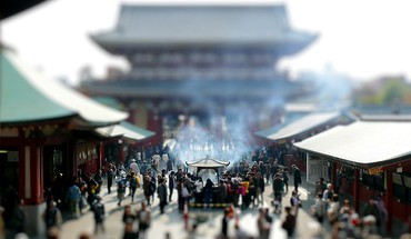 Tilt-shift mini HD wallpaper