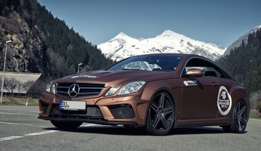 Cars tuning coupe mercedes-benz black edition HD wallpaper