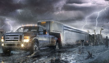 Ford super duty ark fantasy art HD wallpaper