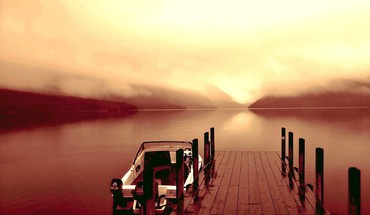 Dock brouillard matin  HD wallpaper